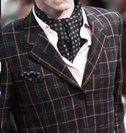 The Ascot tie (also known as Cravat, Day Cravat, or simply Ascot) (3/4)
