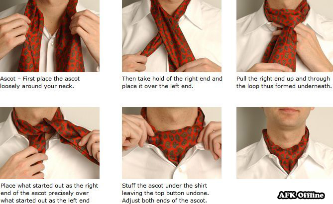 The Ascot tie (also known as Cravat, Day Cravat, or simply Ascot) (4/4)