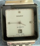 Rado Automatic Square Shaped White Dial SS