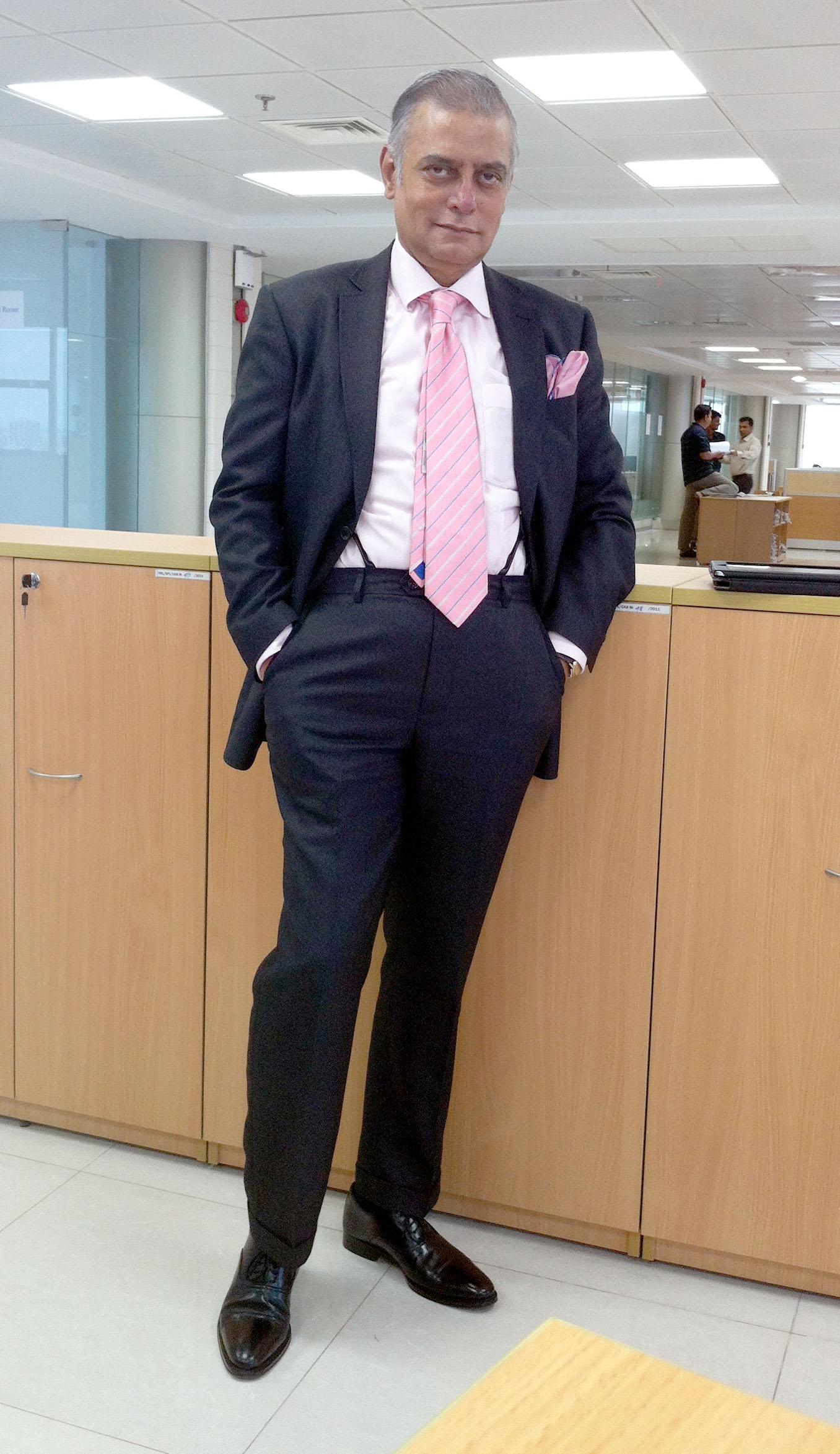 Pink Oxford Shirt Men