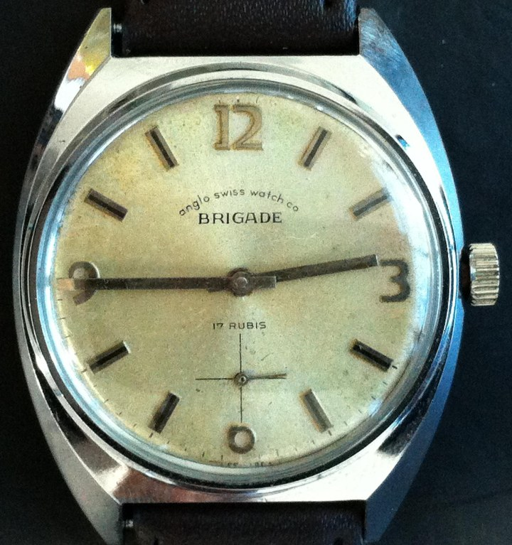 anglo swiss watch company BRIGADE manual winding SS