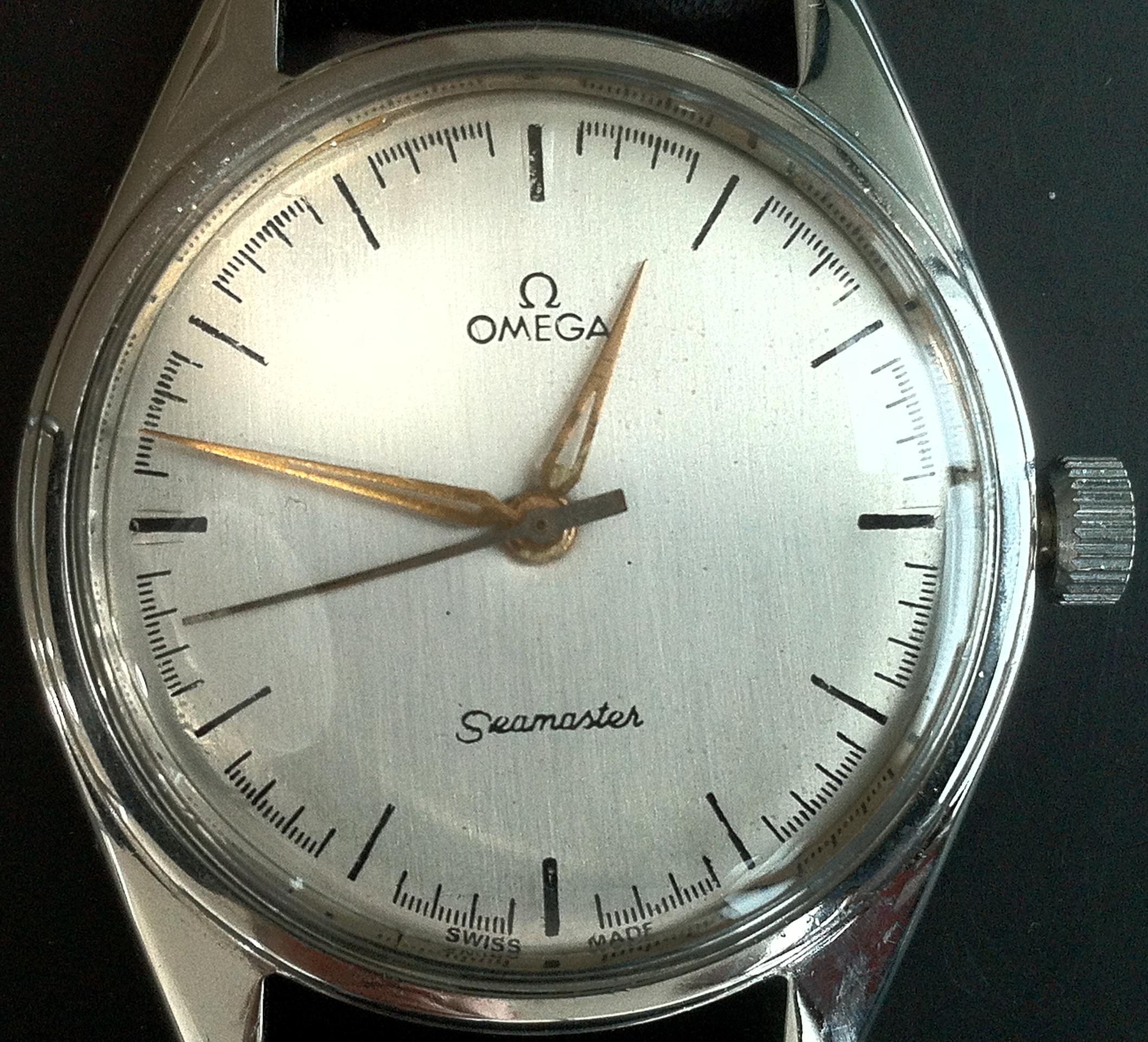Vintage omega seamaster manual winding watch with nato g10 nylon strap this is a blog about for Omega watch vintage