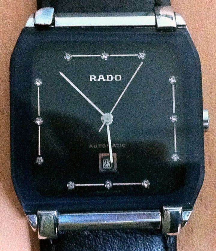 Rado Automatic Rectangualr Shape black dial automatic data