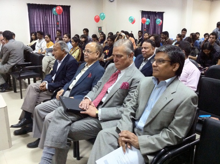 At the University of Liberal Arts, Bangladesh (ULAB) event.