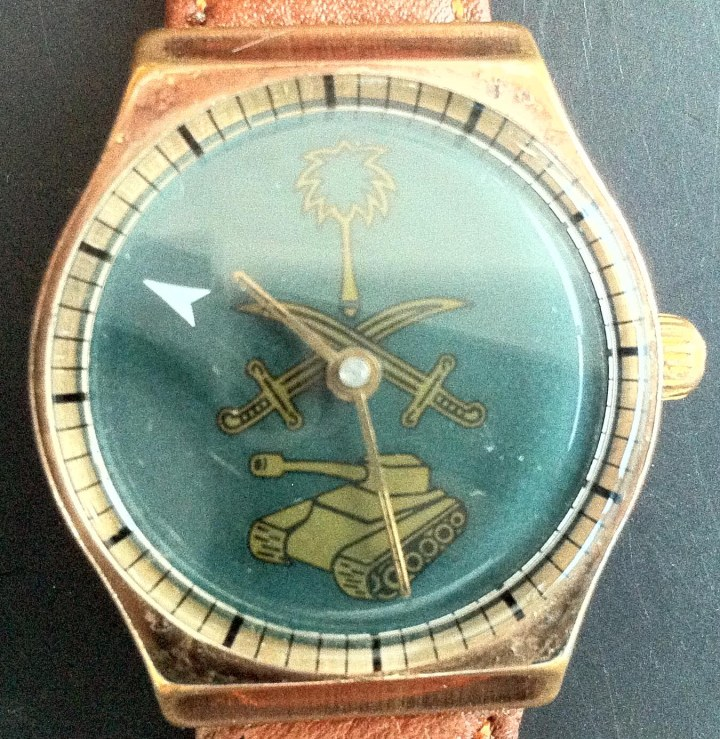 Milirary watch automatic gold plated