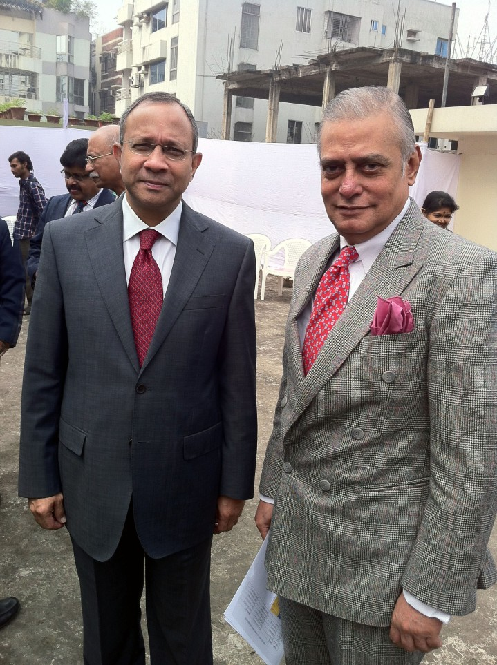 With Mr. Pankaj Saran, High Commissioner of India to Bangladesh