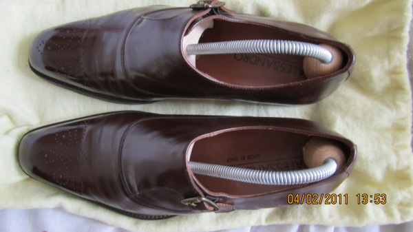 Brown monk shoes 1