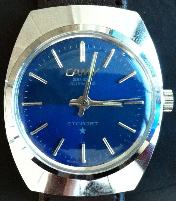 Camy Starjet Manual Winding blue dial