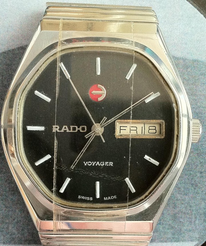 Rado Voyage Automatic Day Date SS Black Dial