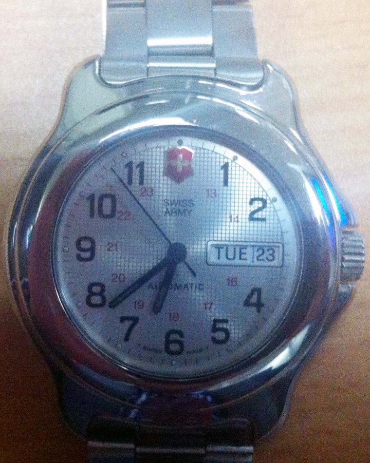 Swiss Army Automatic day date stainless steel