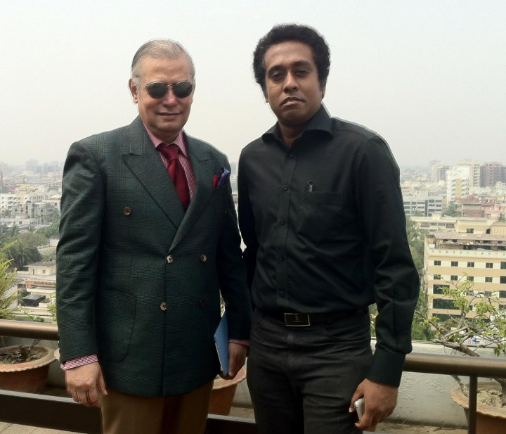 With Shahidul K K Shuvro of the Daily Independent after the Seminar.