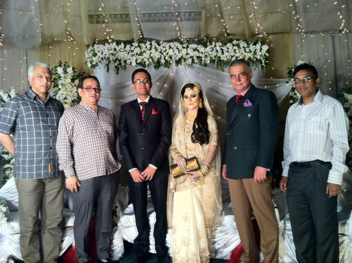At today's wedding reception of Ishtiaque and Kaniz at the Trust Auditorium