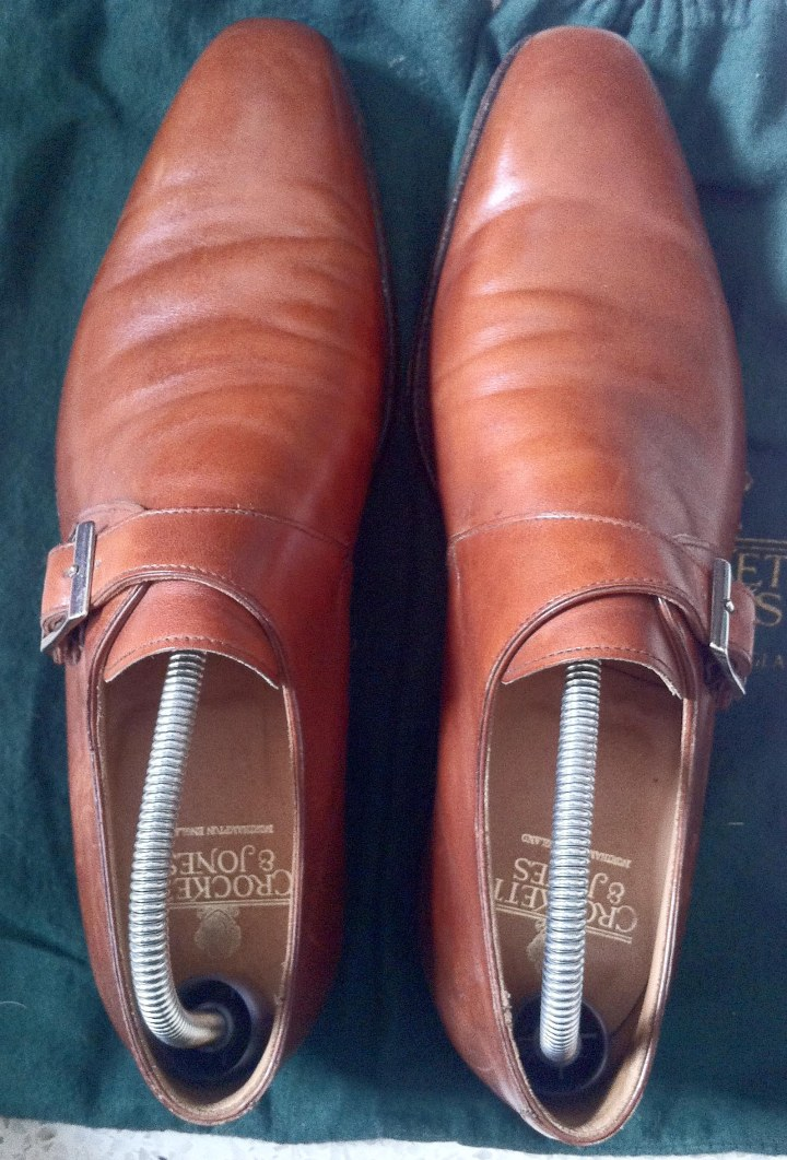 Brown Chestnut monk shoes C&J