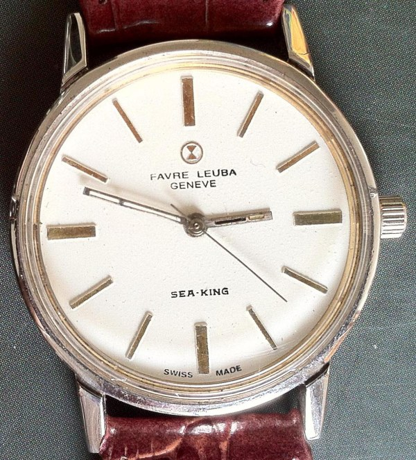 Favre Leuba Geneve Sea King manual winding white dial
