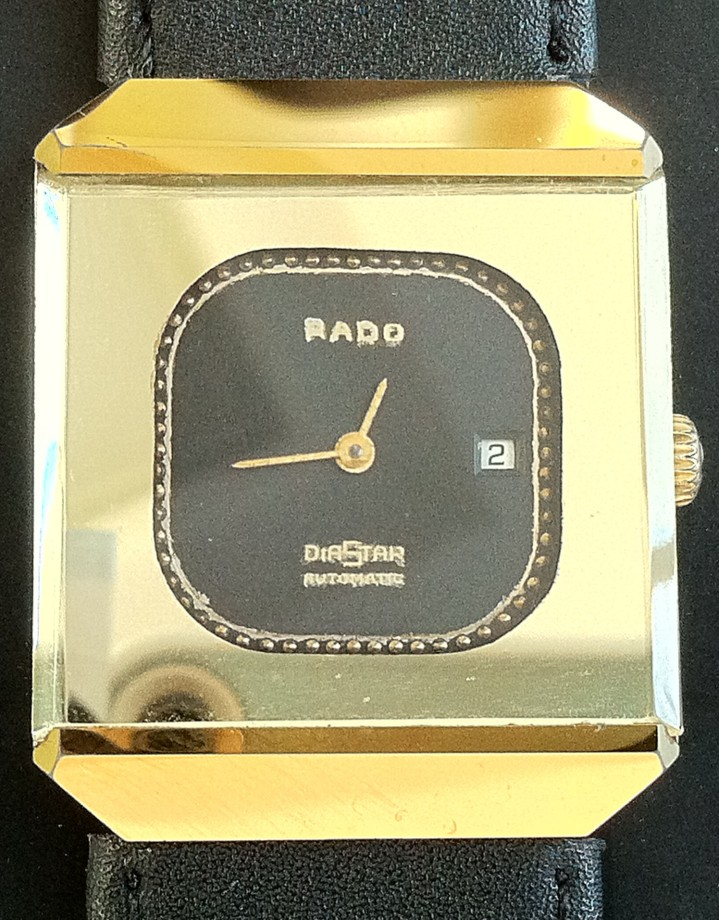 Rado Diastar Gold automatic square shaped