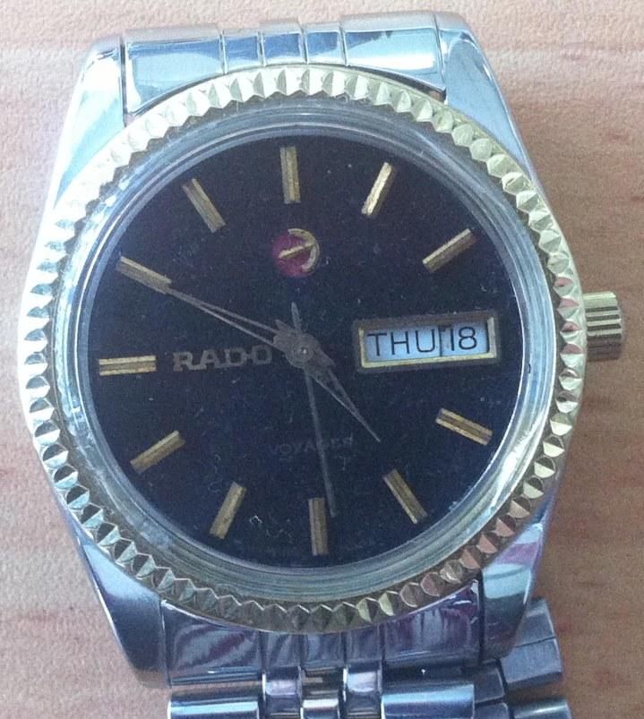Rado Voyager Black Golden Dial