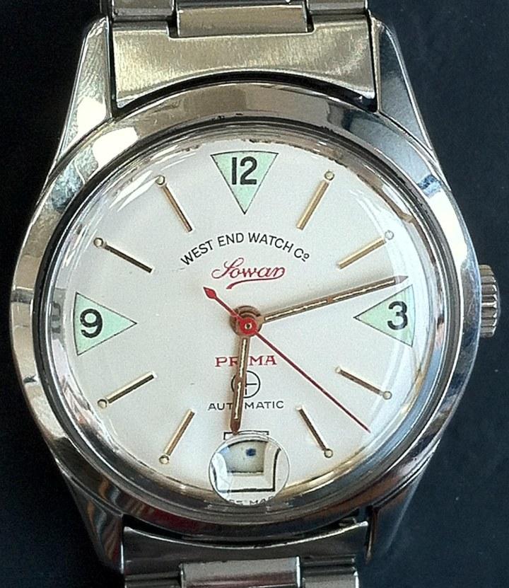 West End Watch Co Sowar Prima automatic white dial metallic bracelet