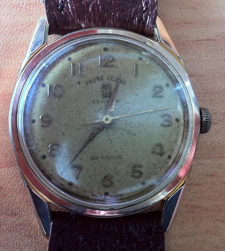 Vintage Favre Leuba Sea King Gold-plated winding 2