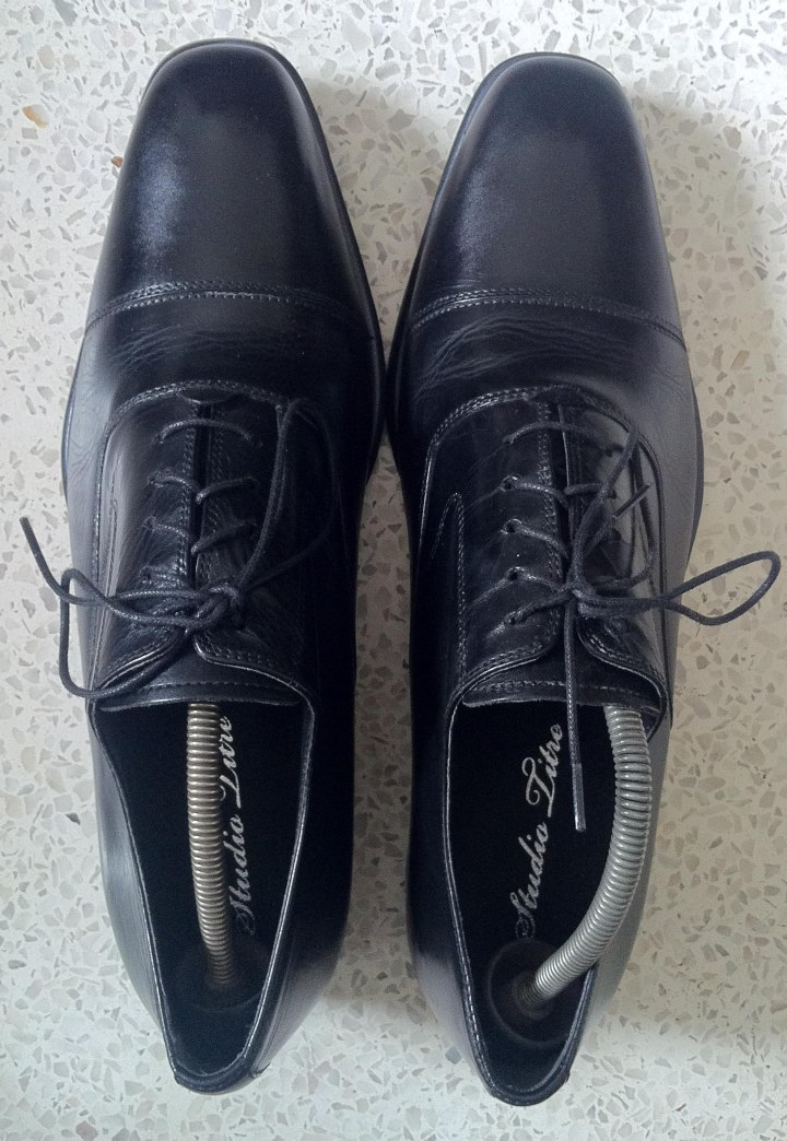 Black Oxford rubber sole