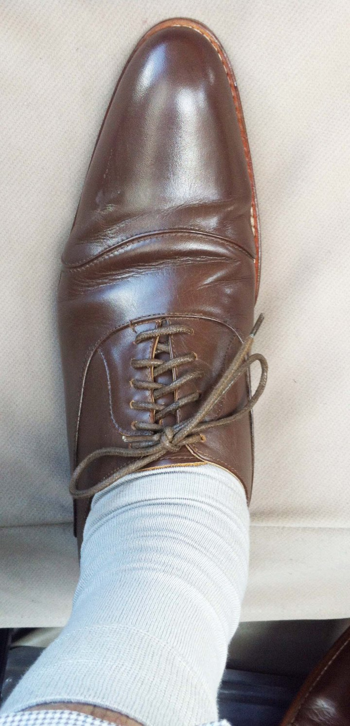Dark Tan Oxford shoes 1