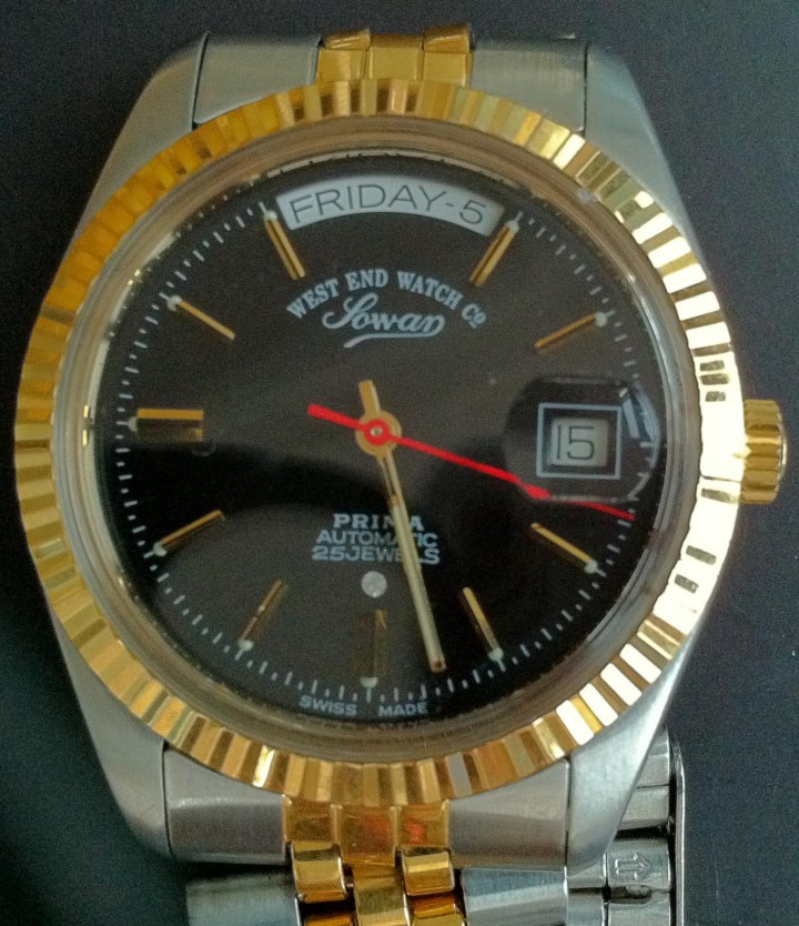 West End Watch Company Sowar Prima Automatic Black Dial Red Second Hand