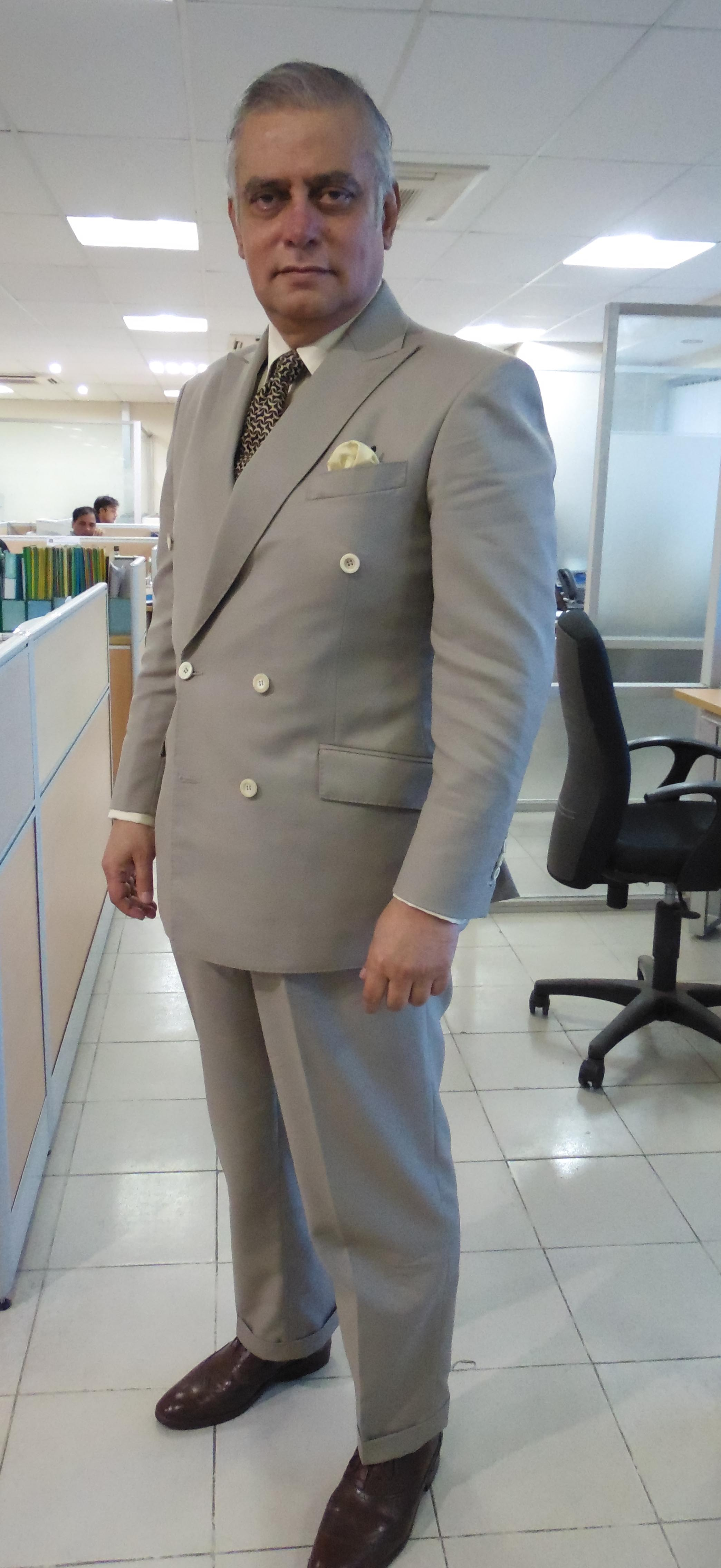 beige tropical wool double-breasted suit (6X2) – This is a blog ...