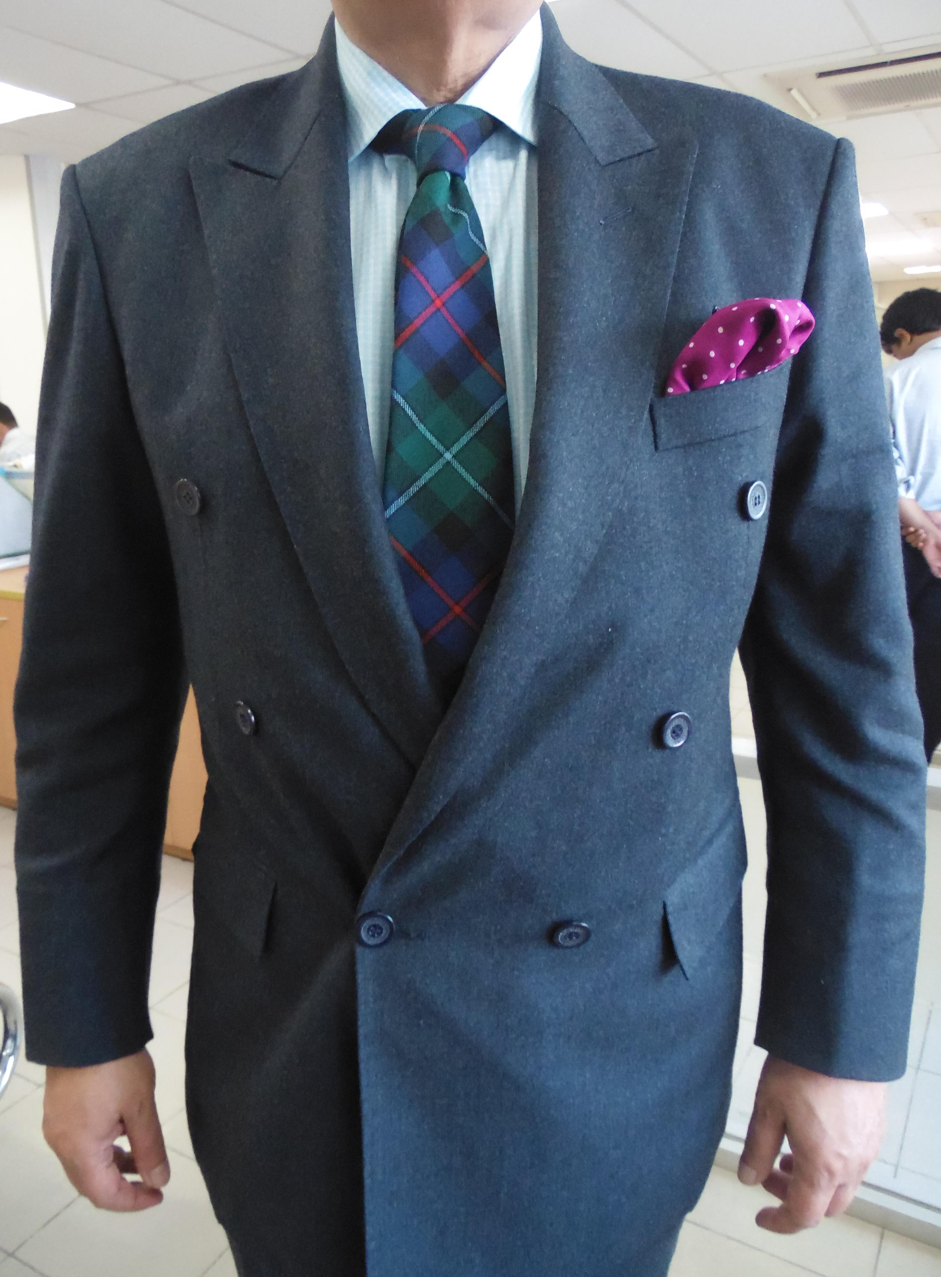 woolen bluish-green double-breasted suit (6X1) – This is a blog ...