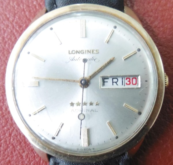 Longines Automatic 10K gold filled Admiral five star day date watch