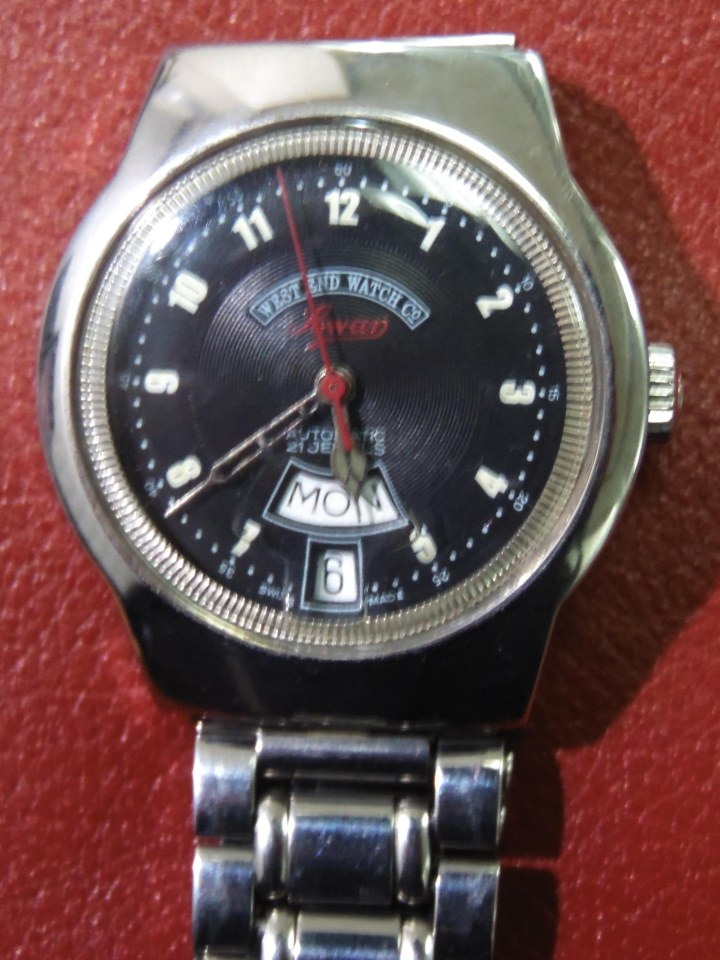 West End Watch Company Sowar Prima day date stainless steel watch