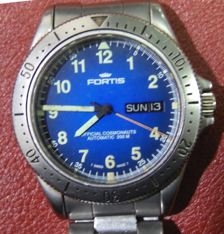 vintage Fortis Official Cosmonanauts Automatic 200M watch in stainless Steel