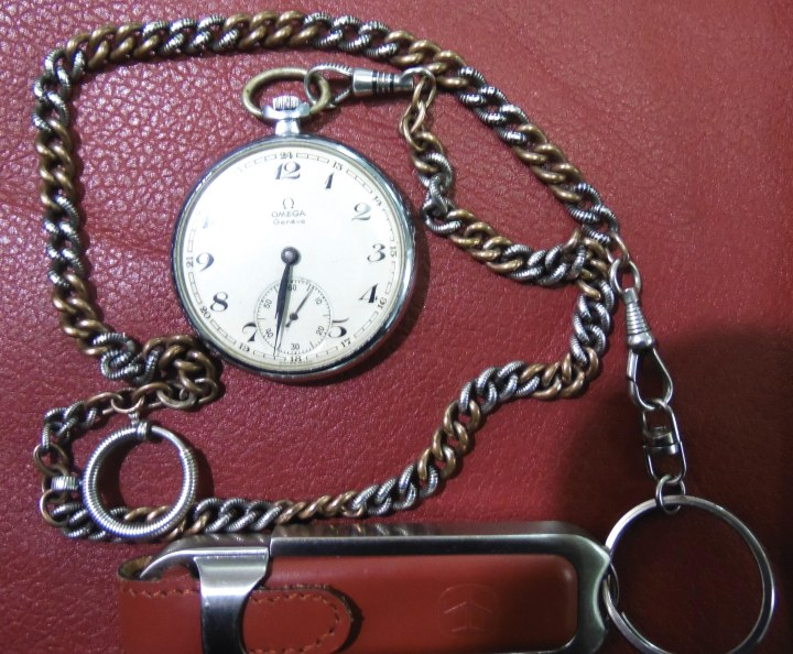 Vintage manual-winding Omega Pocket Watch with split second