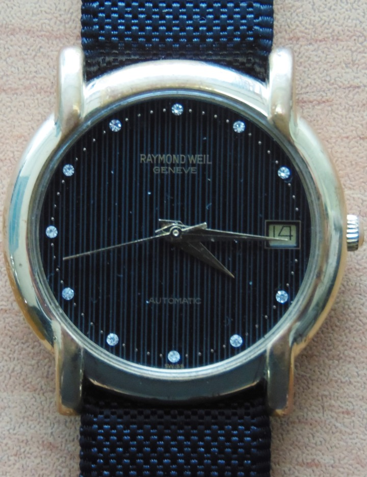 Raymond Weil Geneve Automatic date black dial gold-plated