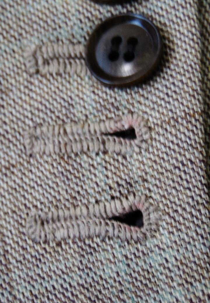 Handmade buttonholes