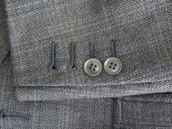 Handmade button holes with Corozo buttons