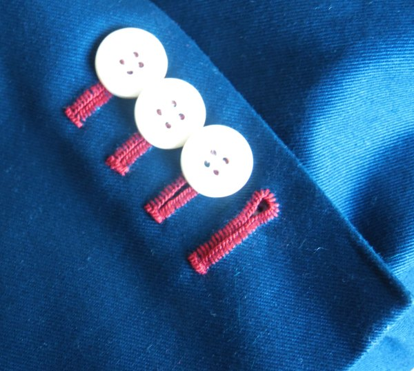 hand sewn button holes