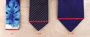 tie width