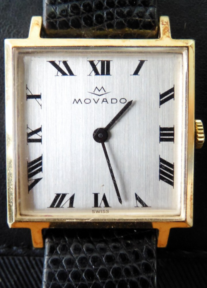 Movado gold-plated manual square shape watch