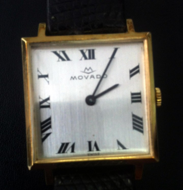 Movado gold-plated manual winding watch