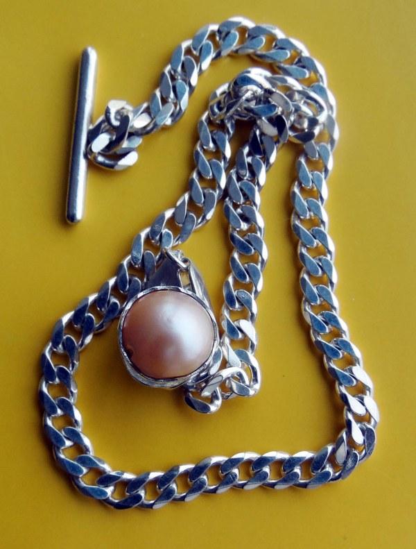 Silver Lapel Chain