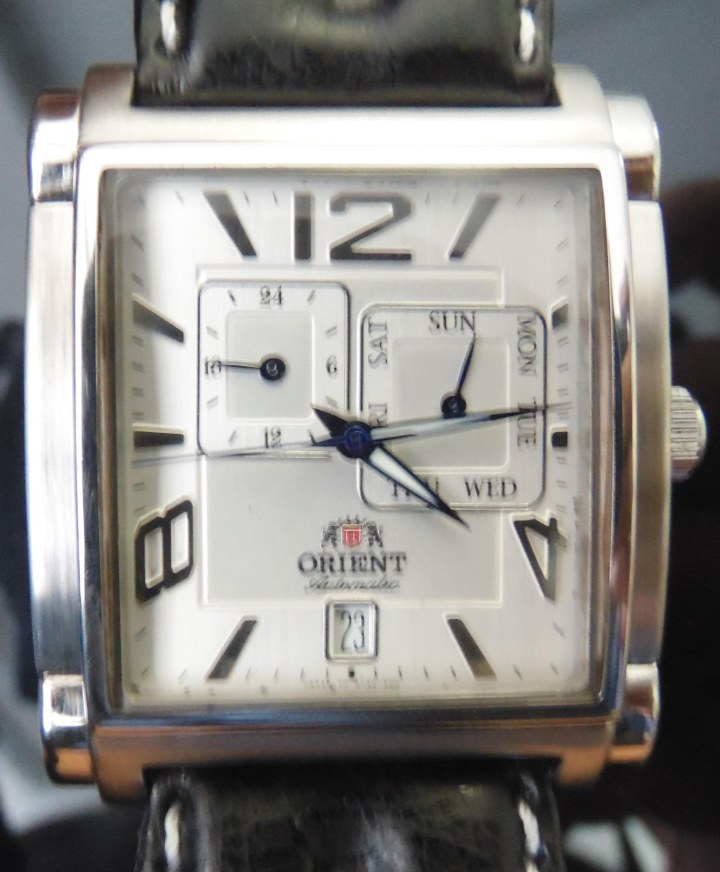 Orient day date automatic watch