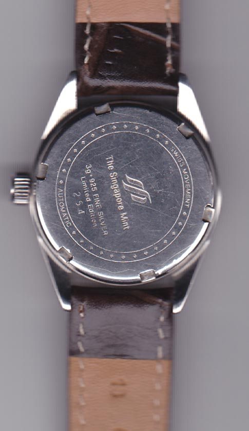 Singapore Mint pure silver watch 03