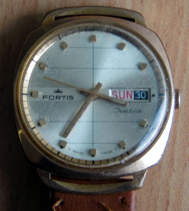 Fortis True Line day date watch