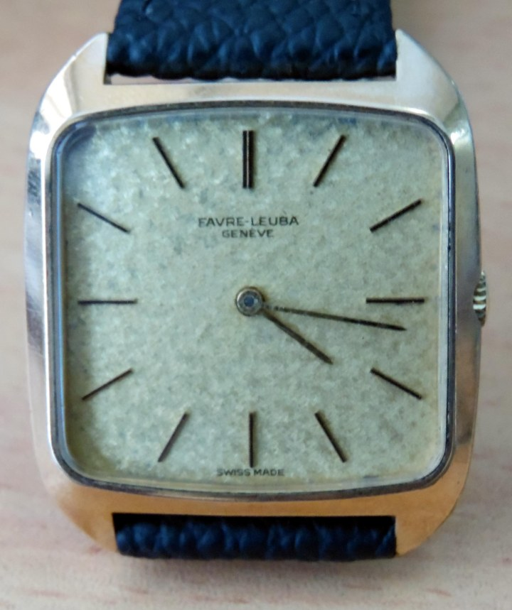 Vintage Favre Leuba gold plated manual winding