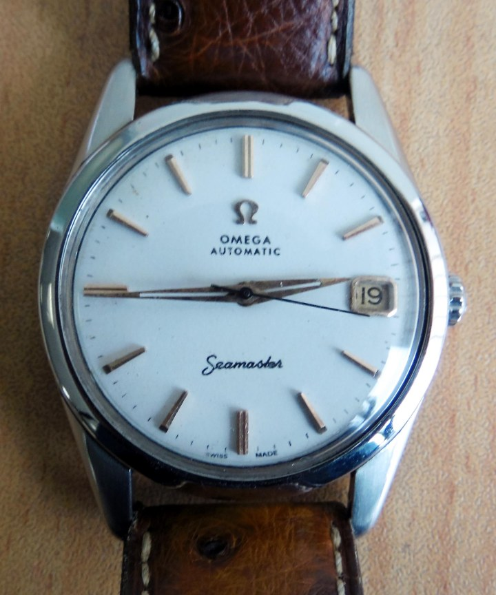 Omega Seamaster Automatic Stainless Steel brown leather strap