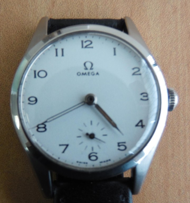Omega Automatic with split second leather strap