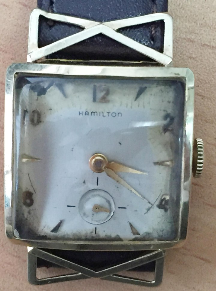Hamilton 14k solid gold watch